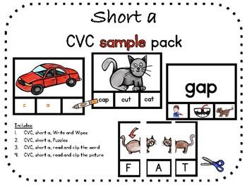 Short a, CVC sample pack
