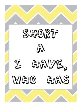 Short a CVC words I have, Who has