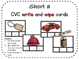 Short a, CVC write and wipe cards