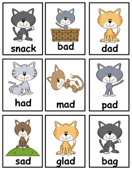 Short /a/ Centers and Activites: Word sort, word games, worksheets