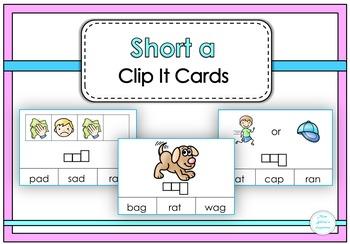 Short a Clip It Cards