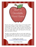 Short a Decodable Words game