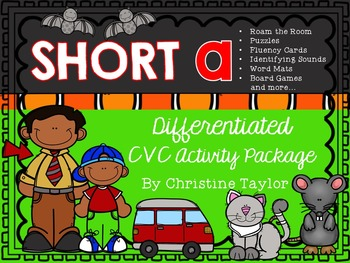 CVC Words:  Short A Differentiated Activity Package