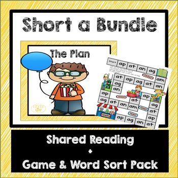 Short a Differentiated Phonics Game and Shared Reading