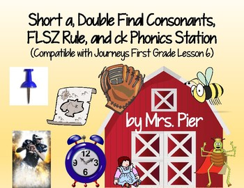 Short a, Double Final Consonants, FLSZ Rule, ck Station (Compatible w/ Journeys)