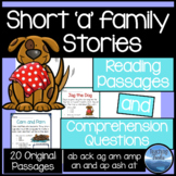 Short Vowel Stories: Short a Reading Comprehension Passages and Questions