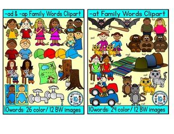 SHORT VOWEL A Clipart Bundle-CVC Clipart (47 total words- 208 images)