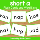 Short a Flashcards and Word Lists
