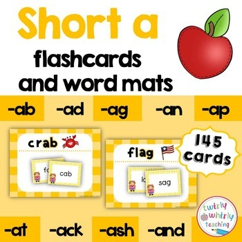 Short a Flashcards and Center Activities