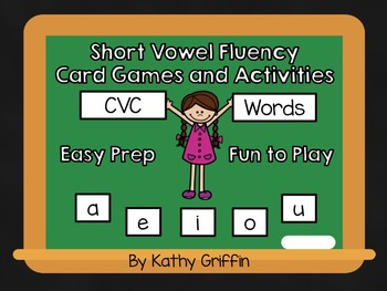 CVC Fluency Card Games and Activities