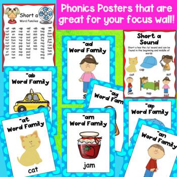 Short a CVC Word Families Hands-on Phonics Activities