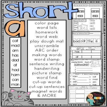 Short a Hands-on Spelling and Phonics