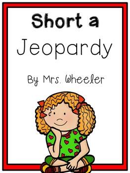First Grade Phonics: Short a Jeopardy