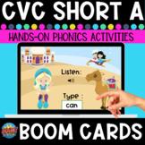 Short-a Listen and Type CVC Boom Cards
