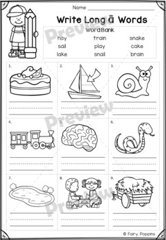 Short 'a' & Long 'a' Games and Activities