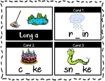 Short a & Long a Task Cards