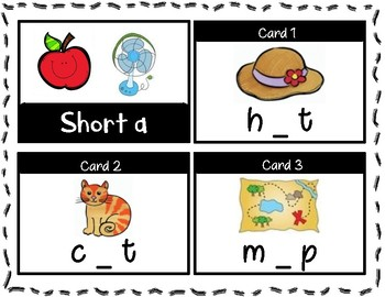 Short a & Long a Task Cards FREEBIE!!