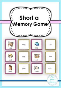 Short a Memory Game