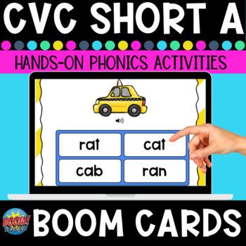 Short A Phonics Self-Check Boom Cards