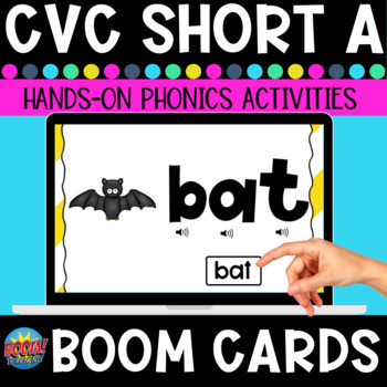 Short A Phonics Practice Boom Cards