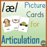 Vowel Articulation Cards for Speech Therapy: Short a