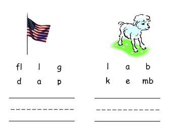 Short a Picture/Word Cards