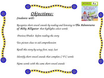Short a Powerpoint Supplement for The Adventures of Abby Alligator