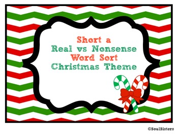 Short a Real vs. Nonsense Word Sort and Tree Map - Christm
