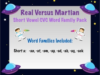 Short a - Real vs Nonsense words