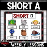 Short a Phonics Distance Learning