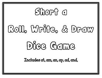 Short a Roll, Write, & Draw - CCSS Aligned - Kindergarten