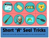 Short a Seal Tricks - Short A CVC Words Sort- Learning Center Kit