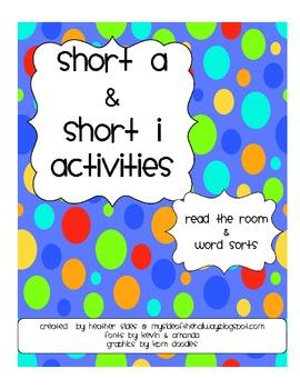 Short a & Short i Activities