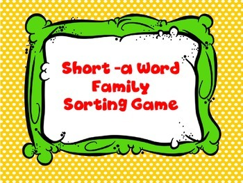 Short a Sort Game
