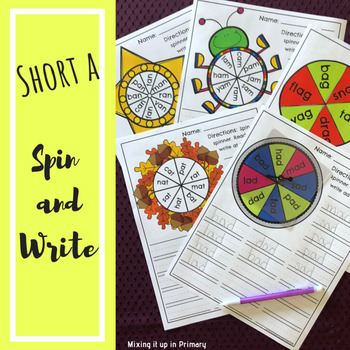 Short a - Spin and Write