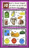 Short a Vowel Clip art Set - Ag, Am, Ap, and Ad Word Families - Rhyming Words
