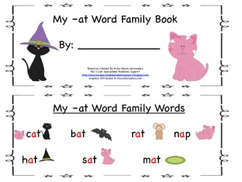 Short a Vowel Sound: -at Family Student Small Guided Reading Book
