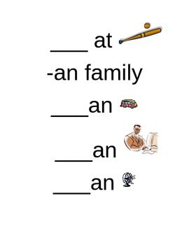 Short /a/ Word Families