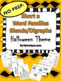 Short a Word Families - Blends & Digraphs - Halloween Theme!
