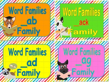 Rhyming Words/Word Families Short A Power Points and Printables Bundle