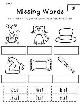 Short a Word Families Vol. 2