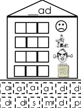 """Short """"a"""" Word Families - Word Building Activity"""