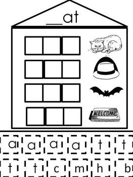 "Short ""a"" Word Families - Word Building Activity"