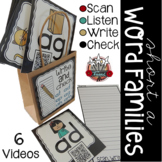 Short a Word Families:  Write and Check QR Codes