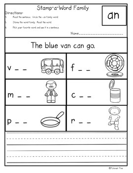 Stamp-A-Word Family/Decode CVC (Short a)