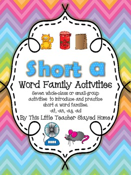 Short a Word Family Activities
