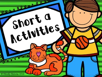 Short a Activities - Interactive Book Included!