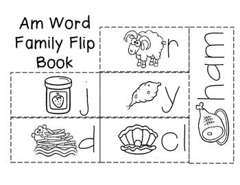 Short a Word Family Flip Books