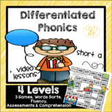 Differentiated Short a games, word sorts, vocabulary, and