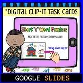 "Short ""a"" Word Family Google Digital Clip-It Task Cards"